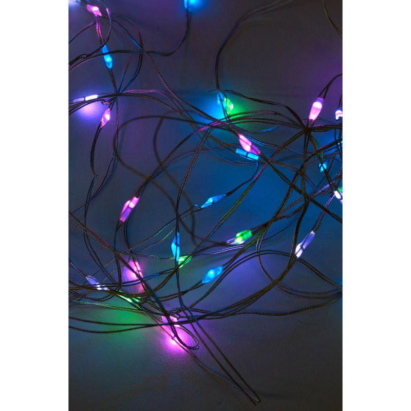 LEDイルミネーション カーテンガーランド USBタイプ MIXカラー 180×200cm SLLH3920 / SPICE OF LIFE