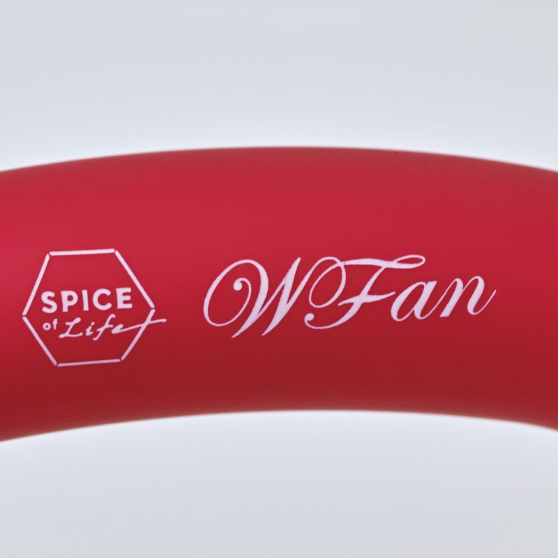 [2021年モデル] WFan ダブルファンハンズフリー ミニ レッド&イエロー 【風量1段階/USB充電式】 DFMN215RD / SPICE OF LIFE