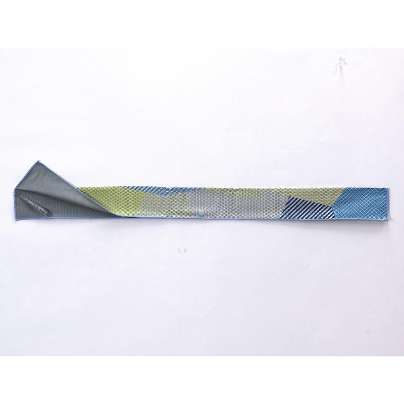 【セール50%OFF】ウォータークールミニタオル ライン ブルー 88×8cm SFVZ3015 / SPICE OF LIFE