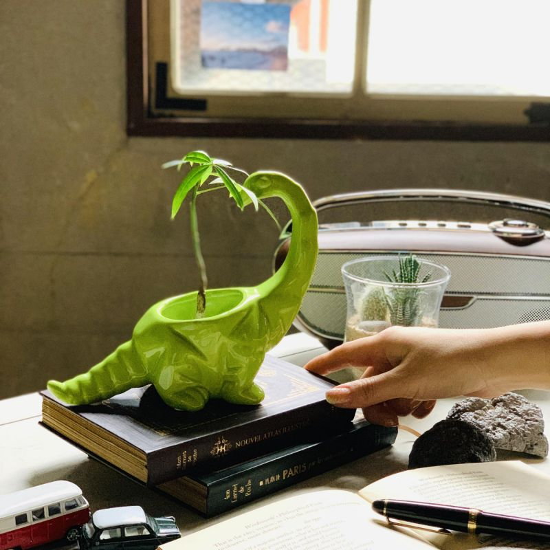ダイナソーポット ブラキオサウルス グリーン FCGK1010GR / SPICE OF LIFE