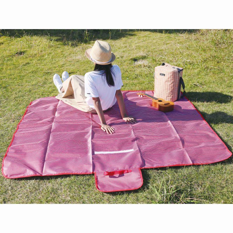 バカンス 折りたたみピクニックマット ストライプ レッド 150×180cm SFVL2010RD / SPICE OF LIFE