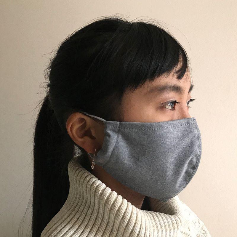 温感あったかマスク2枚セット ブルー&グレー ふつうサイズ SFVZ2229BL / SPICE OF LIFE