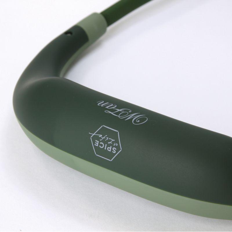 【まとめ買い割引対象】[2021年モデル] WFan ダブルファンハンズフリー ヨガエアー カーキ 【風量5段階/USB充電式】 DFYA211KH / SPICE OF LIFE