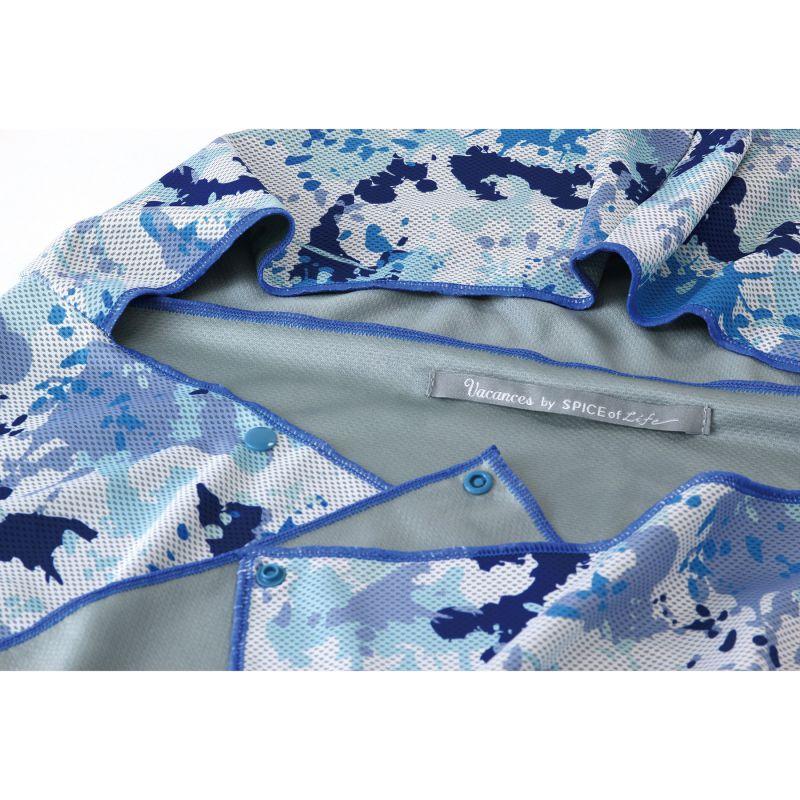 ※ウォータークールタオル フード付き ドロッピングブルー SFVZ3020 / SPICE OF LIFE