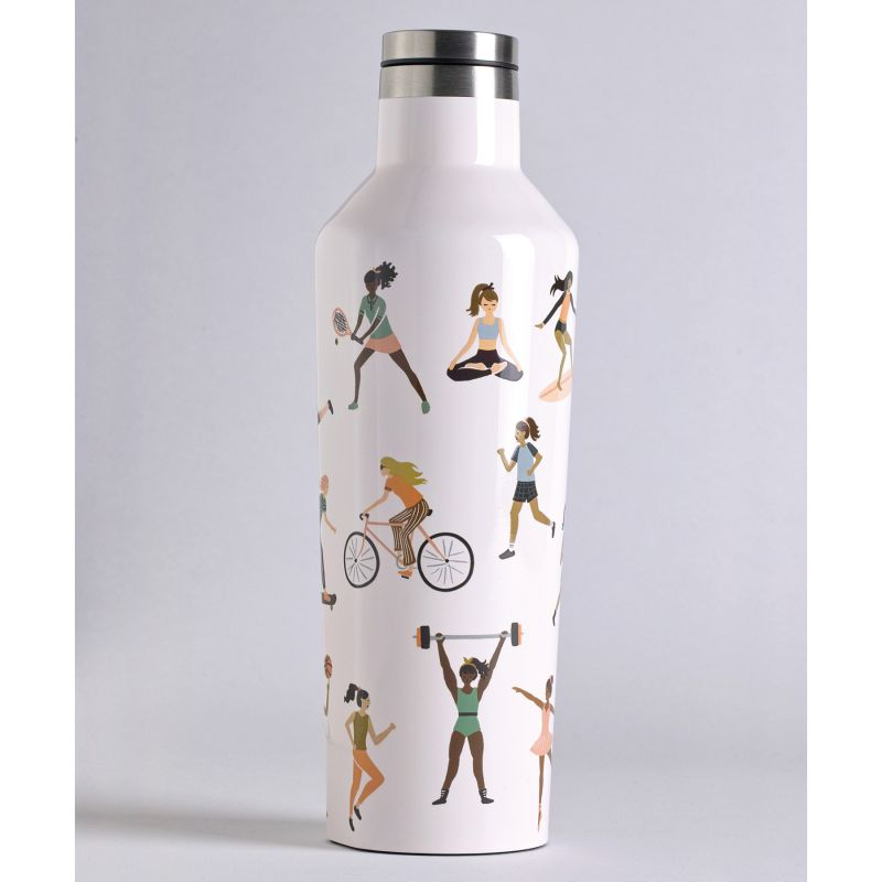 [送料無料] RIFLE PAPER CO.×CORKCICLE キャンティーン スポーツガール 470ml CANTEEN Sports Girls 16oz RP2016GBSG