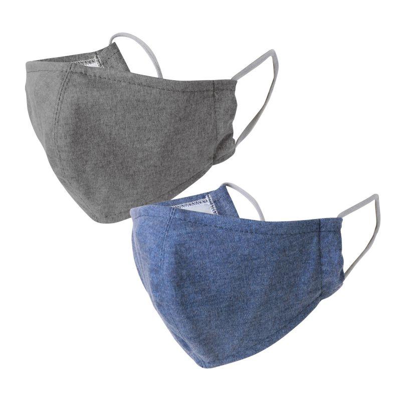 温感あったかマスク2枚セット ブルー&グレー 小さめサイズ SFVZ2229BS / SPICE OF LIFE