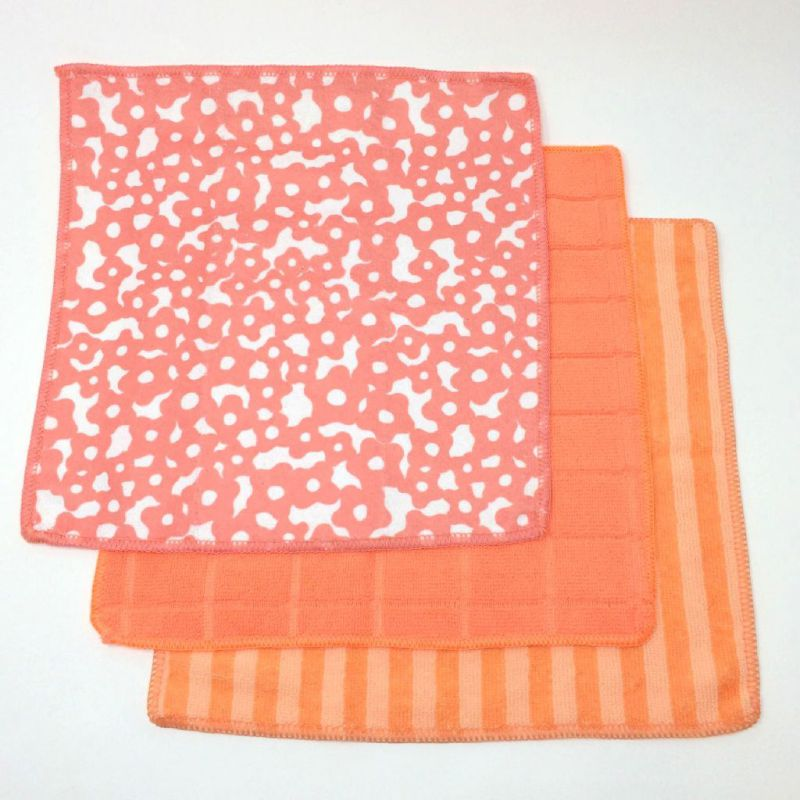 マイクロタオル3枚セット フラワーオレンジ Vari JLLY4029OR / SPICE OF LIFE