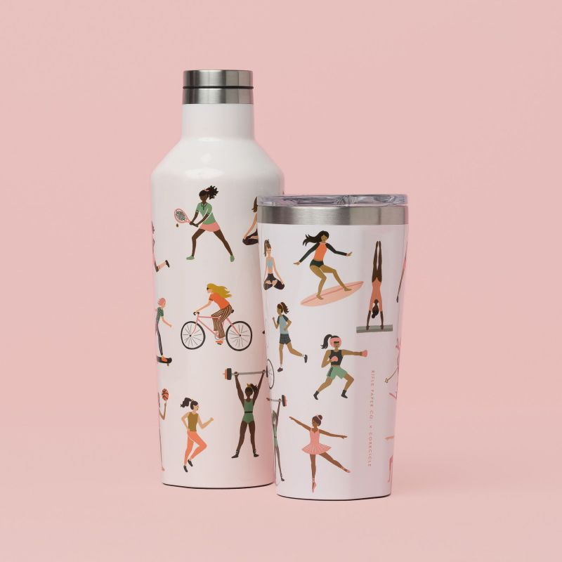 RIFLE PAPER CO.×CORKCICLE タンブラー スポーツガール 470ml TUMBLER Sports Girls 16oz RP2116GBSG