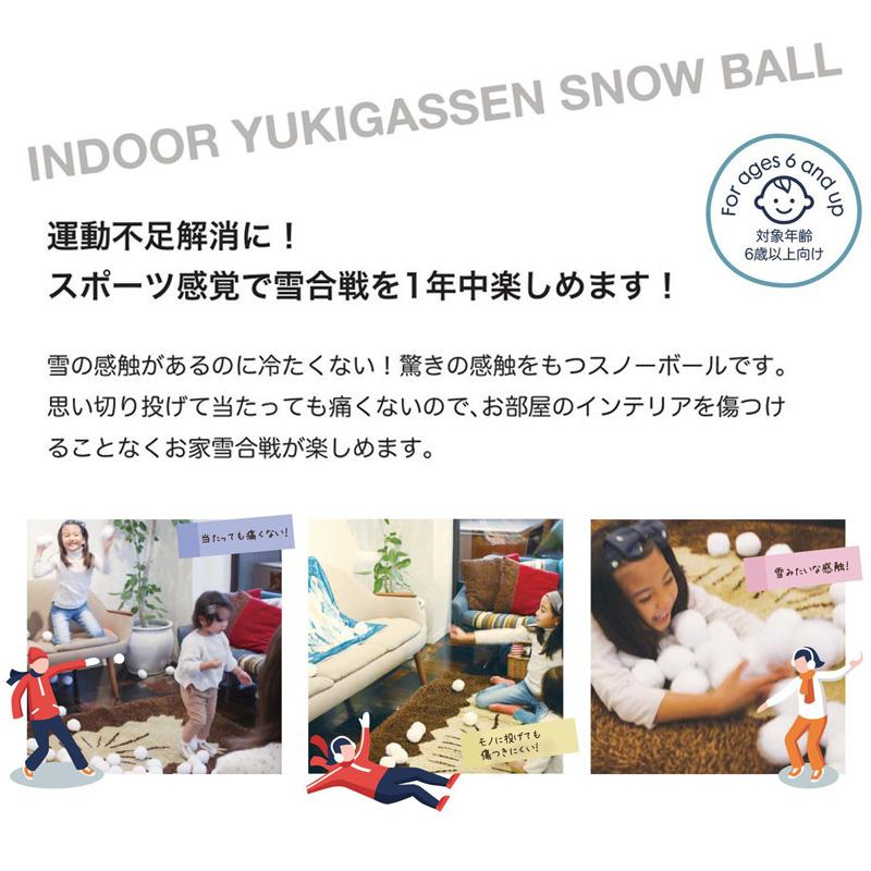 インドア YUKIGASSEN スノーボール36個セット 7.5cm 雪合戦NMXK2020 / SPICE OF LIFE