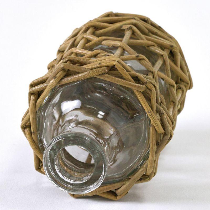 FONTAINE かご編みガラスフラワーベース ミニボトル LYGN1120 / SPICE OF LIFE