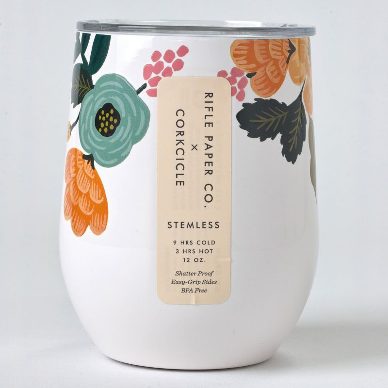 RIFLE PAPER CO.×CORKCICLE ステムレス クリーム 300ml STEMLESS Cream 12oz RP2312GCL