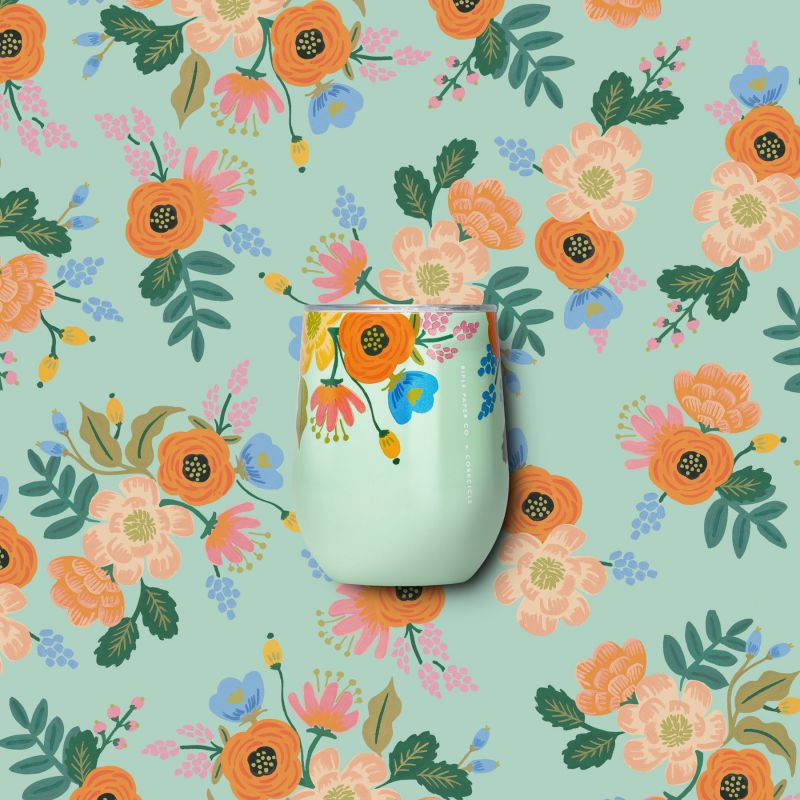 [RIFLE PAPER CO.×CORKCICLE] ステムレス ミント 300ml STEMLESS Mint 12oz RP2312GML