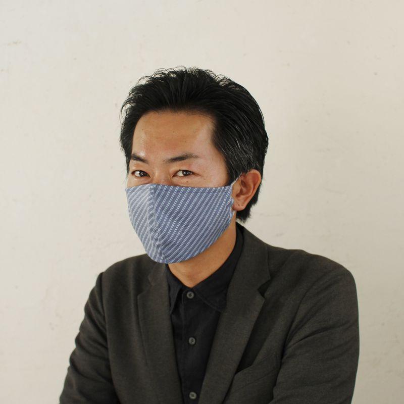 温感あったかマスク2枚セット レジメンタルブルー&ブルー ふつうサイズ SFVZ2259EL / SPICE OF LIFE