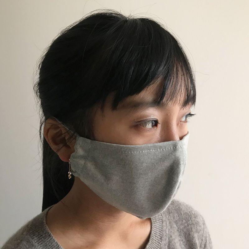 温感あったかマスク2枚セット チェックブラウン&ベージュ ふつうサイズ SFVZ2269FL / SPICE OF LIFE