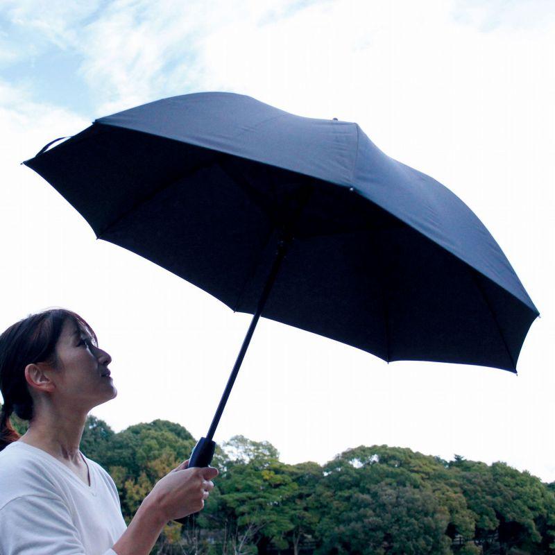 【夏セール30%OFF】ファンファンパラソル 扇風機付き日傘 ブラック 60cm HHLG2150 / SPICE OF LIFE