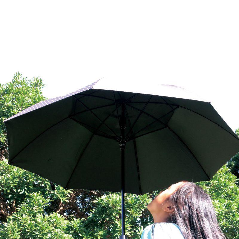 【夏セール30%OFF】ファンファンパラソル 扇風機付き日傘 レジメンタル 60cm HHLG2160 / SPICE OF LIFE