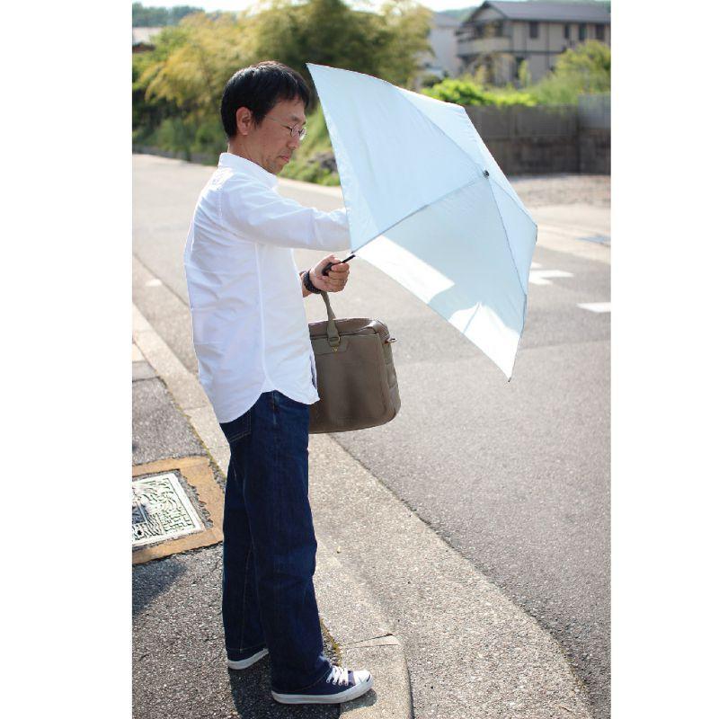 雨晴兼用 フック付き軽量折りたたみ傘 グレー HHLZ2000GY / SPICE OF LIFE