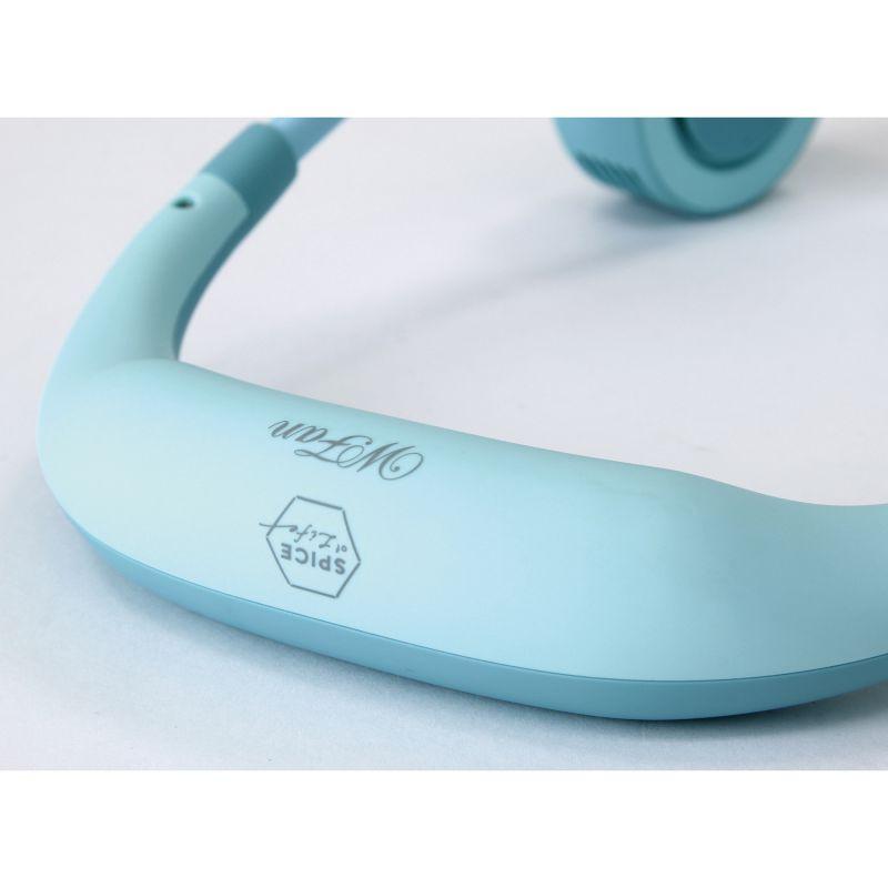 【まとめ買い割引対象】[2021年モデル] WFan ダブルファンハンズフリー ヨガシロッコ サックスブルー 【風量5段階/USB充電式】 DFYS213SAX / SPICE OF LIFE