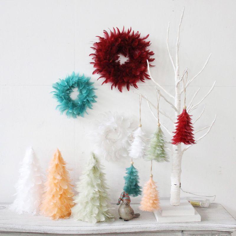 クリスマス エンジェルフェザーオーナメントツリー サーモンピンク TLXK3910PK / SPICE OF LIFE