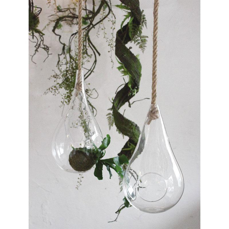 ロープハンギングガラスベース ドロップ Lサイズ KEGY5013 / SPICE OF LIFE