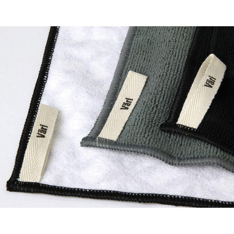 Vari マイクロタオル3枚セット アサノハ ブラック JLLZ2119BK / SPICE OF LIFE