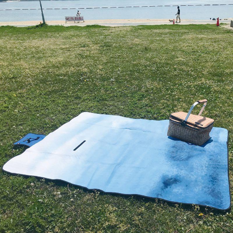 バカンス 折りたたみピクニックマット オーシャンブルー SFVG1810B / SPICE OF LIFE
