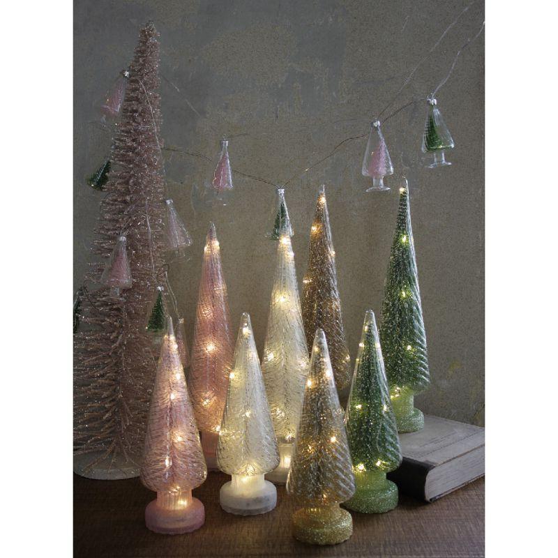 ※【在庫限り60%OFF】クリスマス グリッターLEDガーランド ピンクツリー HZXH3810PK / SPICE OF LIFE