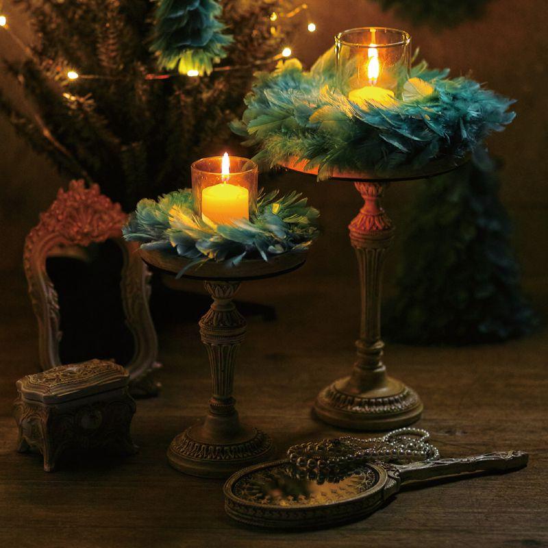 クリスマス エンジェルフェザーリース ブルー Sサイズ TLXK3931BL / SPICE OF LIFE