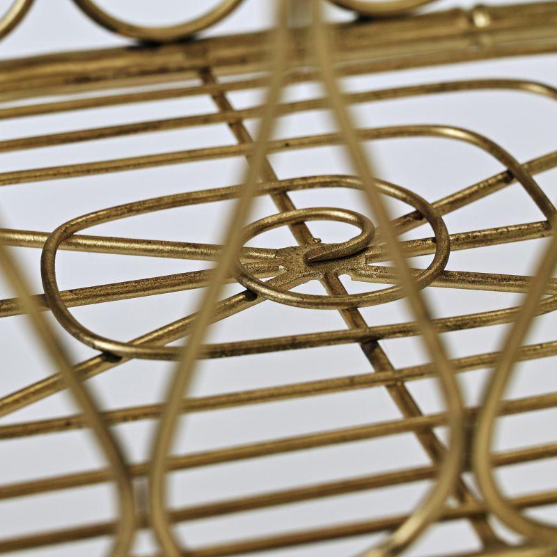 LUXE 脚付きタオルバスケット ゴールド DRDF1280 / SPICE OF LIFE