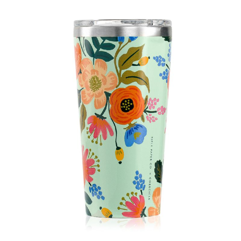 RIFLE PAPER CO.×CORKCICLE タンブラー ライブリーフローラル 470ml TUMBLER LIVELY FLORAL 16oz RP2116GML