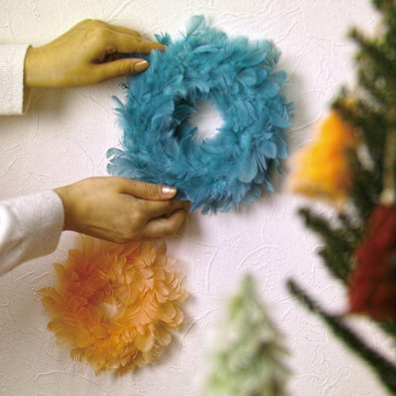 クリスマス エンジェルフェザーリース ブルー Lサイズ TLXK3933BL / SPICE OF LIFE