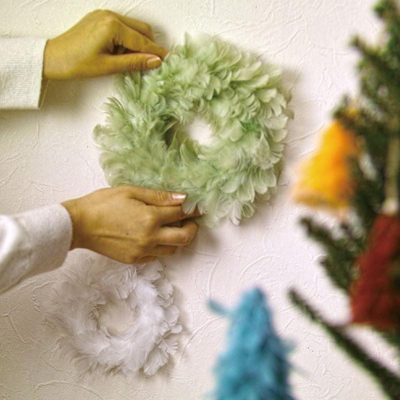 クリスマス エンジェルフェザーリース ミントグリーン Lサイズ TLXK3933MT / SPICE OF LIFE