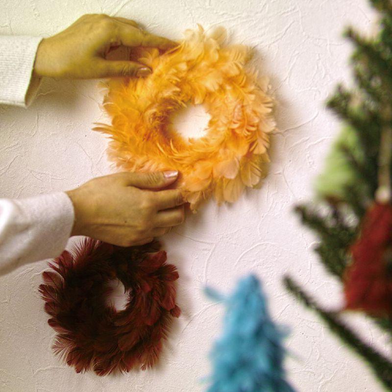 クリスマス エンジェルフェザーリース サーモンピンク Lサイズ TLXK3933PK / SPICE OF LIFE