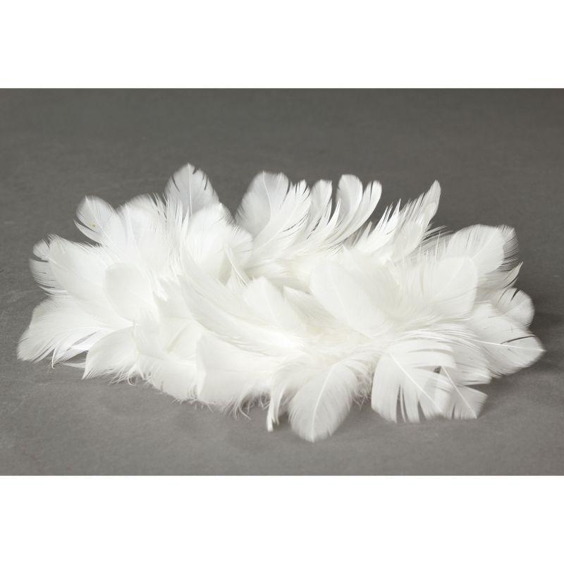 [SPICE OF LIFE] クリスマス エンジェルフェザーリース ホワイト Lサイズ TLXK3933WH