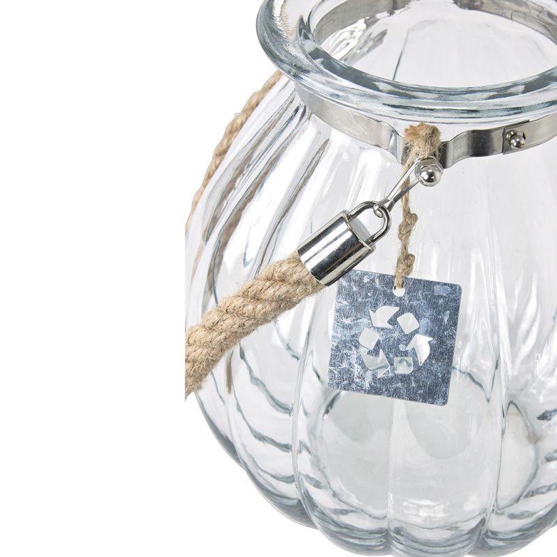 ※【在庫限り30%OFF】ロープハンドルリサイクルガラスベース クリア Lサイズ QRGR1013 / SPICE OF LIFE