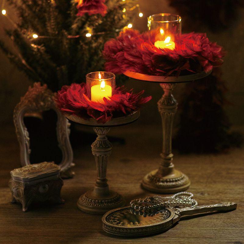 クリスマス エンジェルフェザーリース ボルドー Lサイズ TLXK3933WR / SPICE OF LIFE