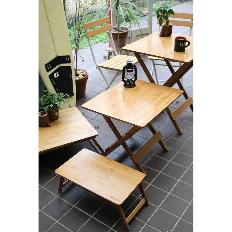 [送料無料] 折りたたみバンブーローテーブル Lサイズ バカンス KJLF2060 / SPICE OF LIFE