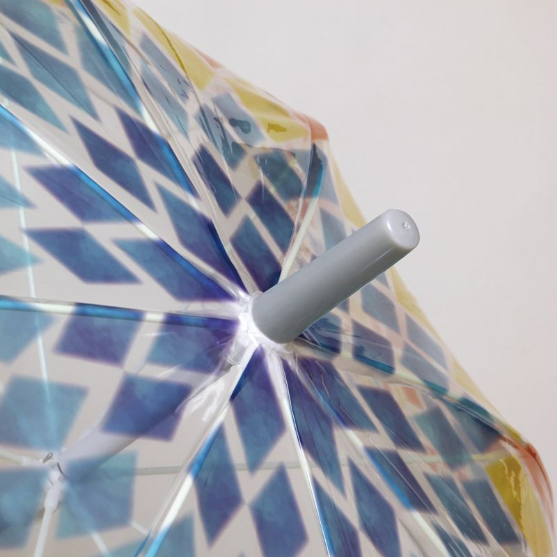 ハッピークリアアンブレラ ステンドグラス 反射テープ付き HHLG2060 / SPICE OF LIFE