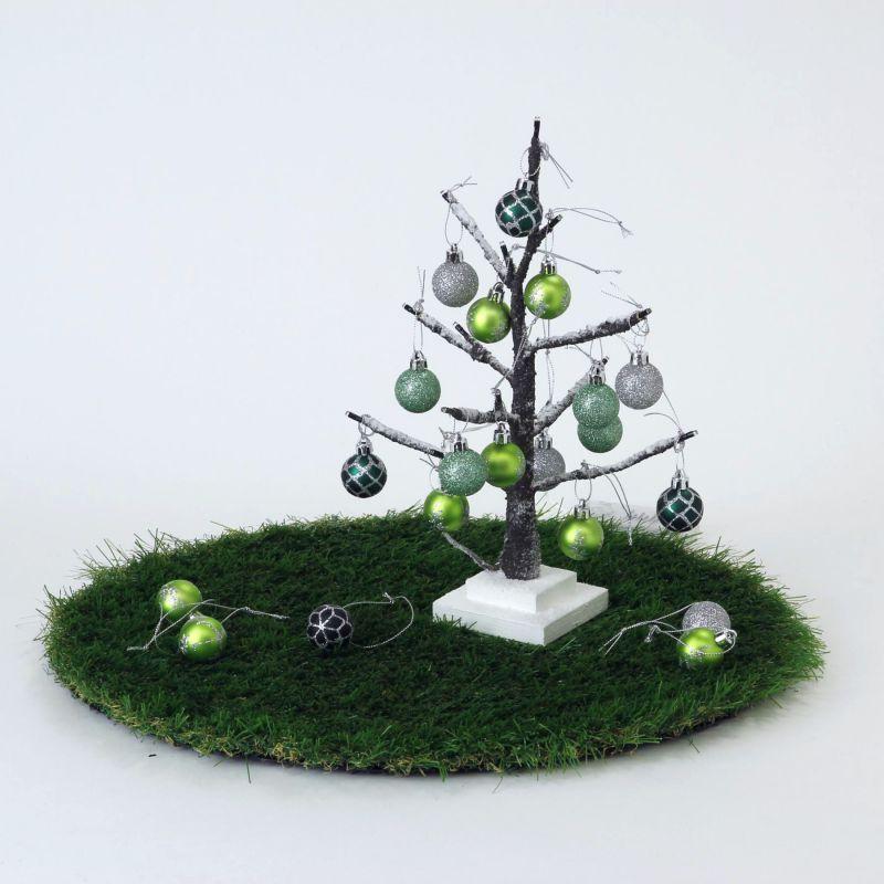 【580円OFF】LEDブランチツリー ブラウン ミニサイズ×グリーンオーナメントSET RJXN3110BRGR / SPICE OF LIFE