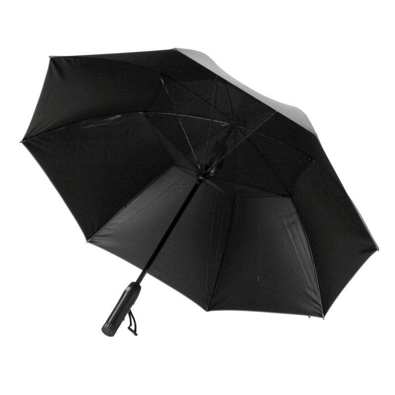 【夏セール30%OFF】ファンファンパラソル 扇風機付き日傘 ヘリンボーン 60cm HHLG2170 / SPICE OF LIFE