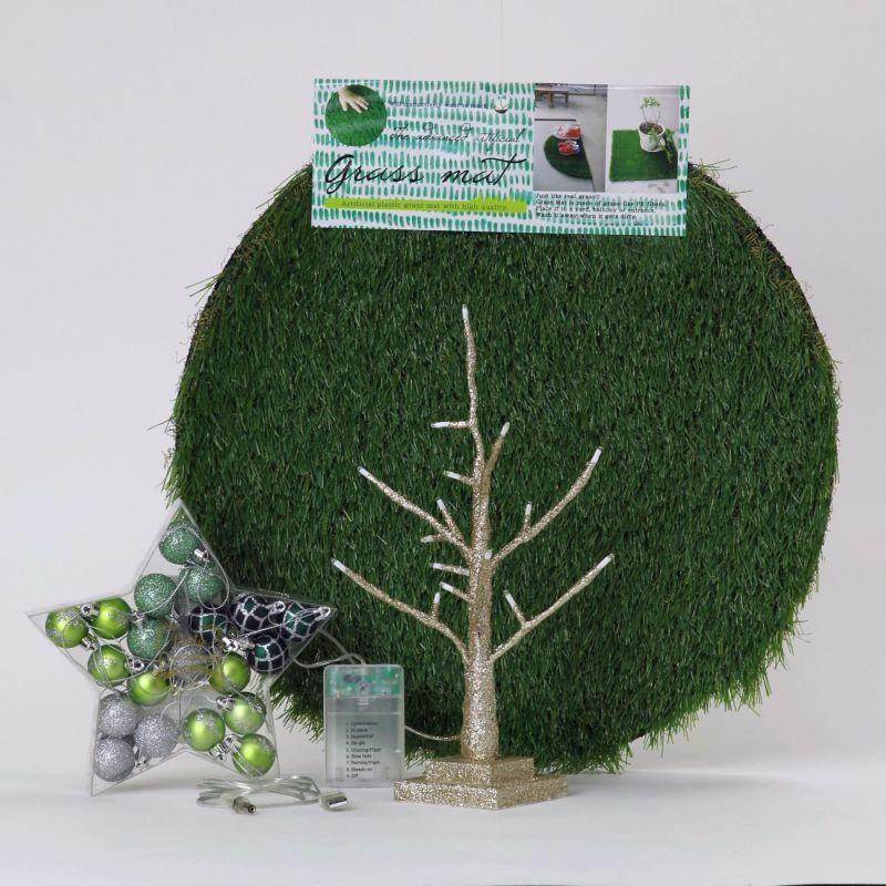 【580円OFF】LEDブランチツリー ゴールド ミニサイズ×グリーンオーナメントSET RJXN3110GDGR / SPICE OF LIFE