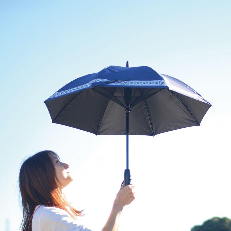 【夏セール30%OFF】ファンファンパラソル 扇風機付き日傘 ボヘミアン 50cm HHLG2220 / SPICE OF LIFE