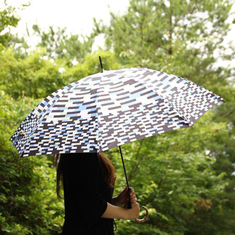 晴雨兼用日傘 ブロック ブラック×ブルー TULZ1120 / SPICE OF LIFE