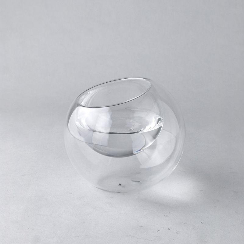 ガラスダブルウォールラウンドドーム クリア Mサイズ LABO GLASS KEGY7072 / SPICE OF LIFE