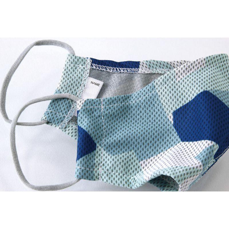 ※UVカットウォータークールマスク2枚セット アイスブルー&ネイビー 小さめサイズ SFVZ2069SBN / SPICE OF LIFE