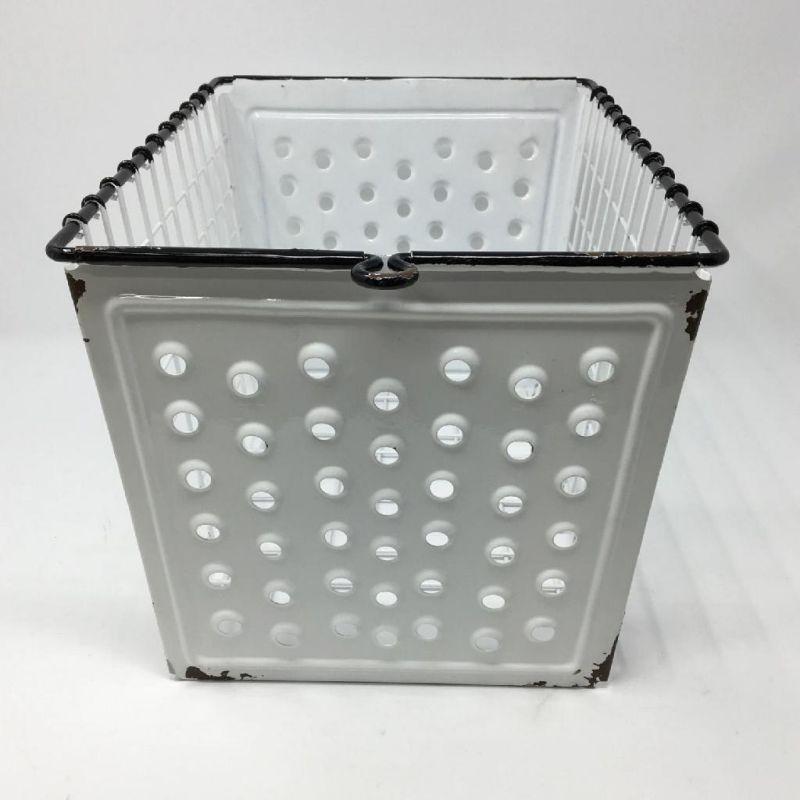 [送料無料] アイアンメッシュバスケット2個セット ホワイト IVDN1339WH / SPICE OF LIFE