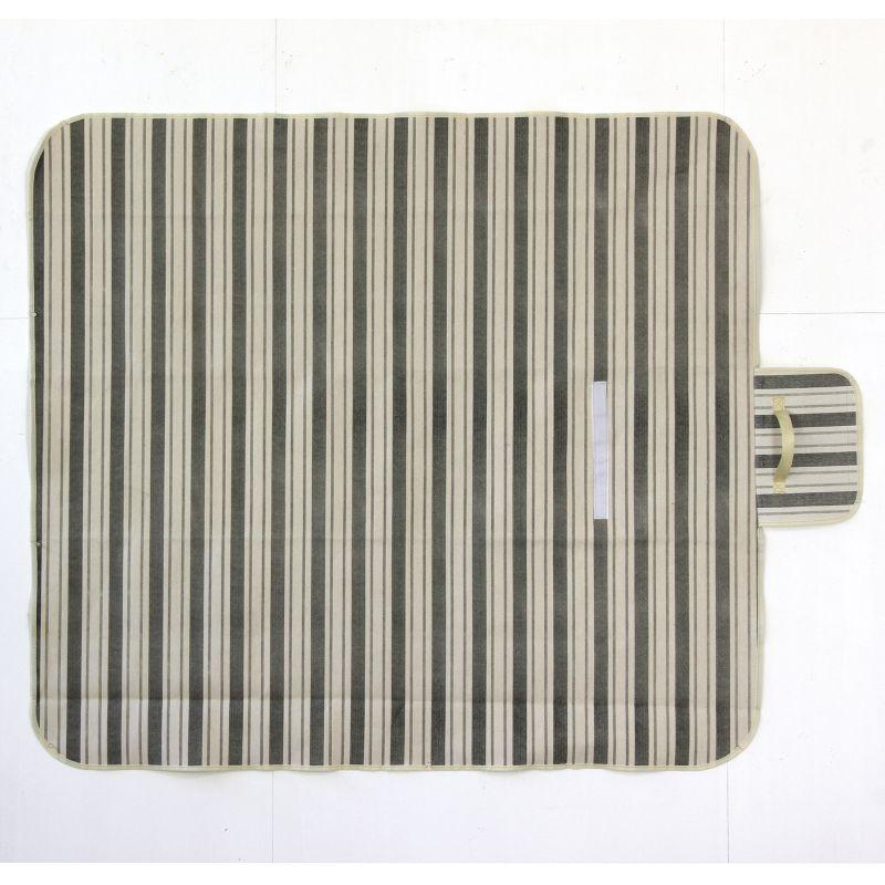 [SPICE OF LIFE] 折りたたみピクニックマット シックシンストライプ 148×130cm LHLZ1020