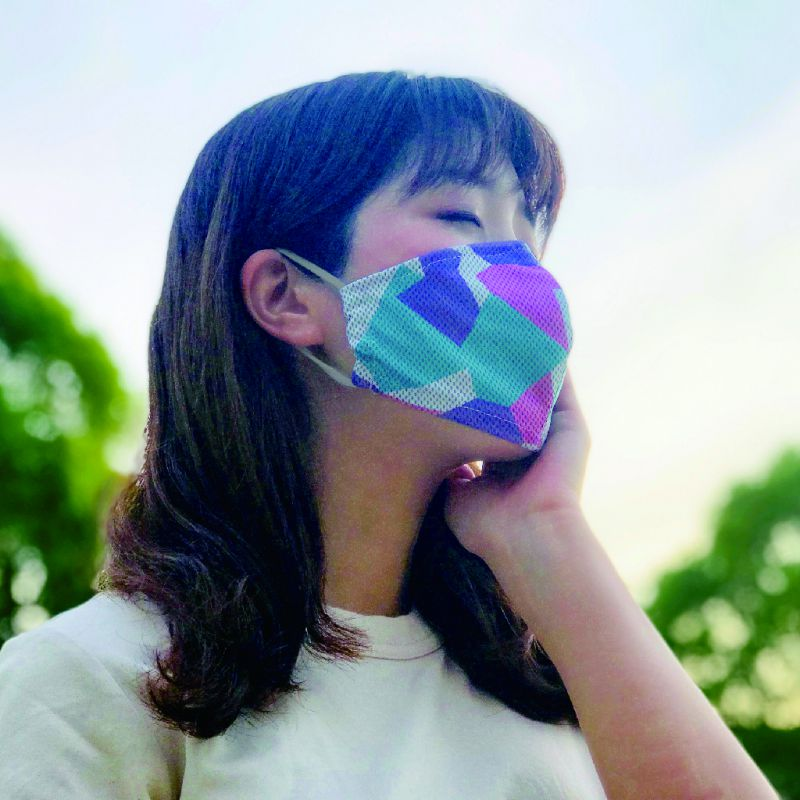 ※UVカットウォータークールマスク2枚セット アイスピンク&ホワイト ふつうサイズ SFVZ2079LPW / SPICE OF LIFE