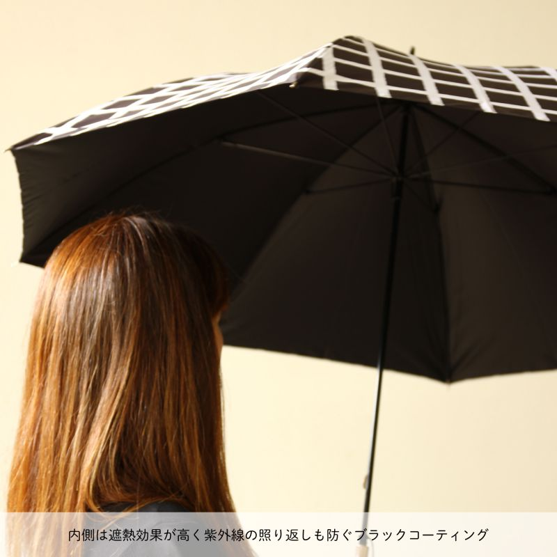 【30%OFFセール】晴雨兼用日傘 チェック イエロー TULZ1170 / SPICE OF LIFE