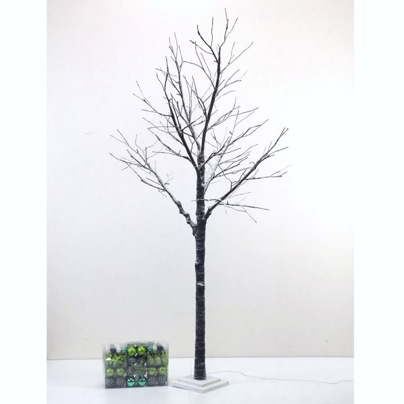 [大型送料1,650円]【3,600円OFF】 LEDブランチツリー ブラウン トールサイズ×グリーンオーナメントSET RJXN3114BRGR  / SPICE OF LIFE